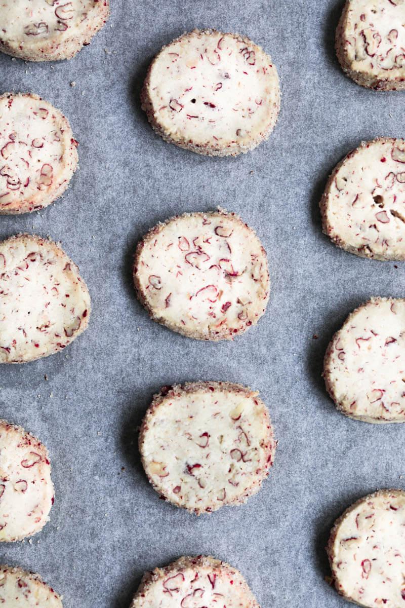 Primer plano de las galletas horneadas