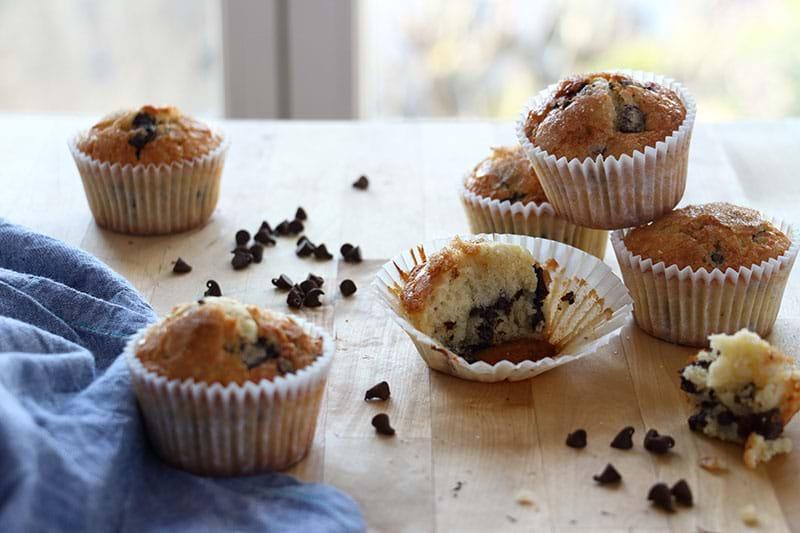 Plano 90° de los muffins dispuestos de manera aleatoria