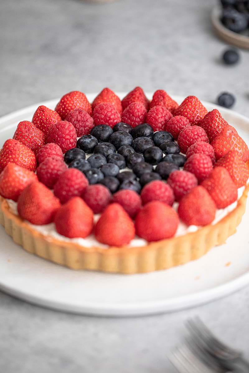 45° shot of the berry tart