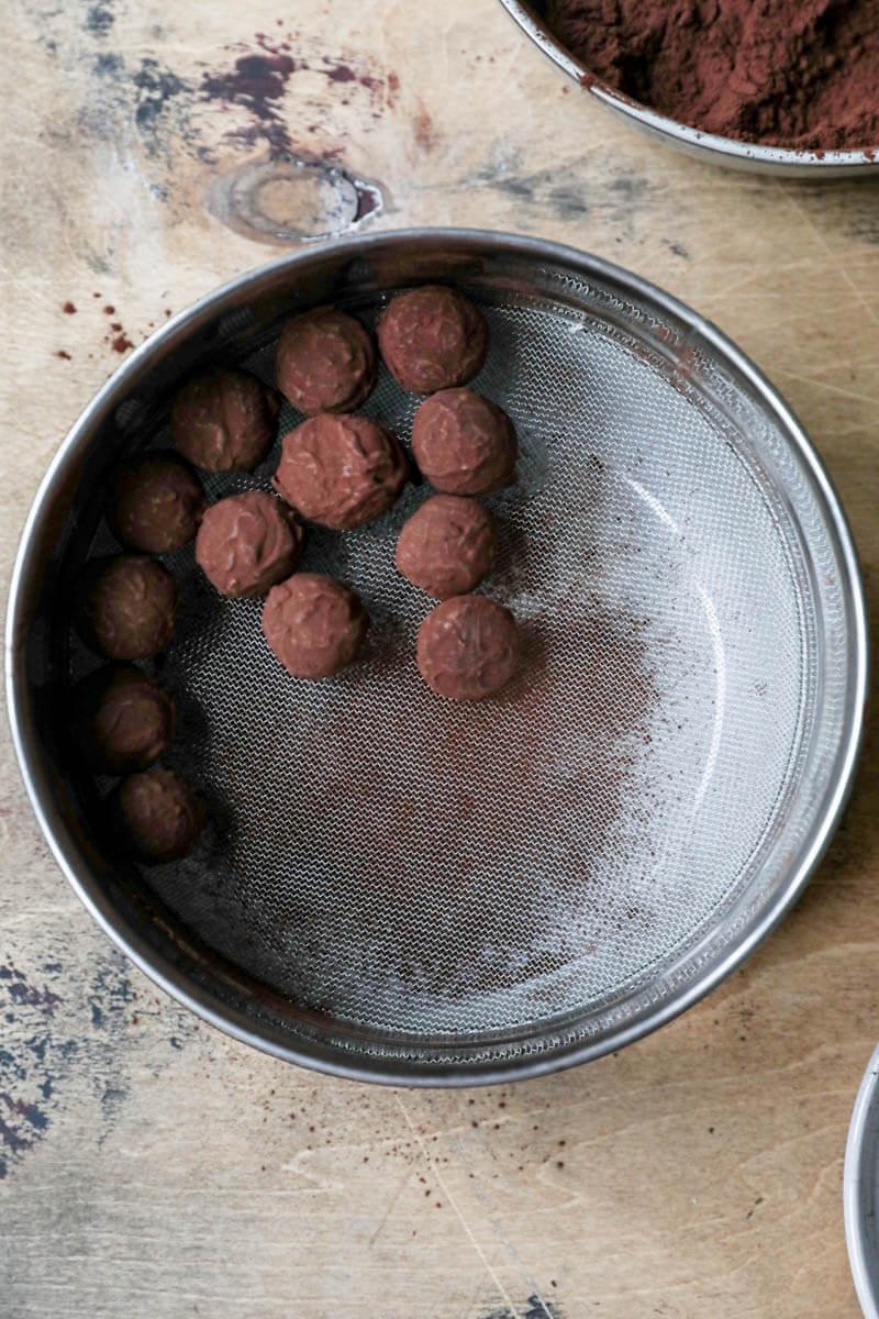 Truffles on a fine mesh sieve