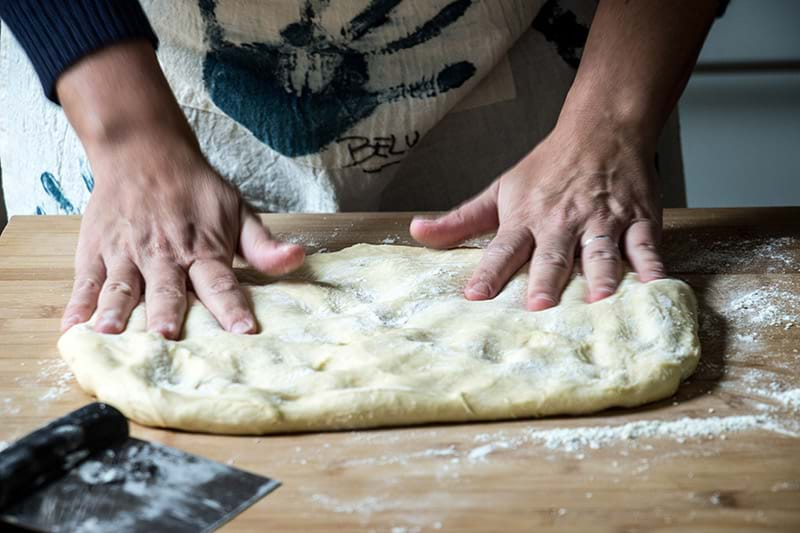 Folding the dough